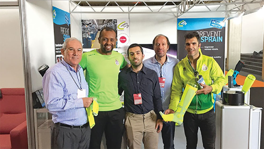 Launch of the sock in 2019 with the inventors Prof. Doctor Diogo C. F. Silva and Prof. Specialist Alexandre Lopes