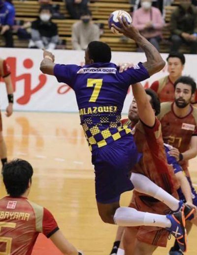 JAPAN Yoan Balazquez, Handball Champion in Japan wearing Prevent Sprain Socks